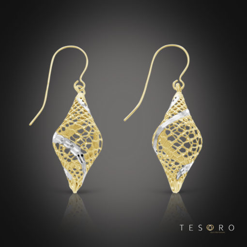 Balla Yellow & White Gold Dangle Earrings