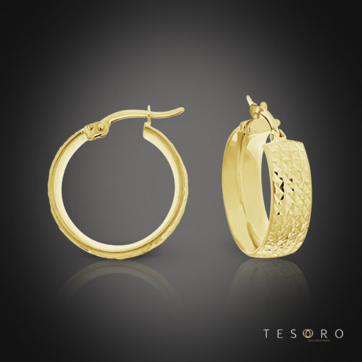 Nazionale Yellow Gold Hoop Earrings