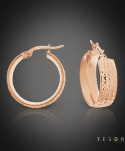 Nazionale Rose Gold Hoop Earrings 15mm