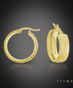 Tesoro Giulia Yellow Gold Hoop Earrings 15mm