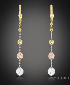 Tesoro Corso Yellow/White/Rose Dangle Earring
