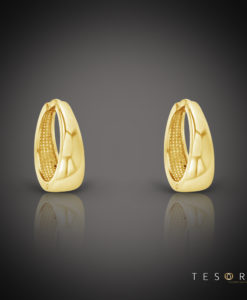 Tesoro Cavour Yellow Gold HTesoro Cavour Yellow Gold Huggie Earringsuggie Earrings