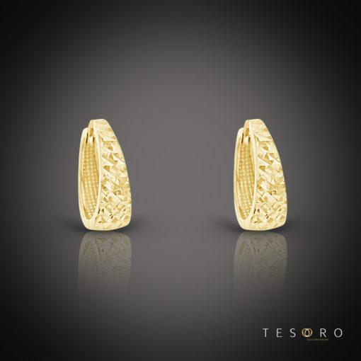 Tesoro Vieste Yellow Gold Huggie Earring