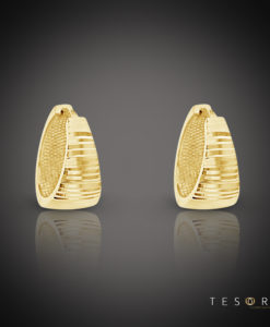 Sacra Yellow Gold Huggie Earring