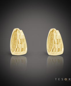 Tesoro Pisa Yellow Gold Huggie Earrings