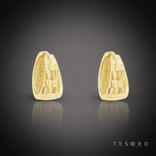 Tesoro Pisa Yellow Gold Huggie Earrings
