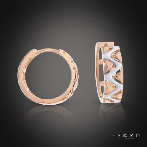 Tesoro Puglia Rose & White Gold Dangle Earrings