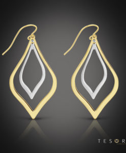 Tesoro Sovana Yellow & White Gold Dangle Earring