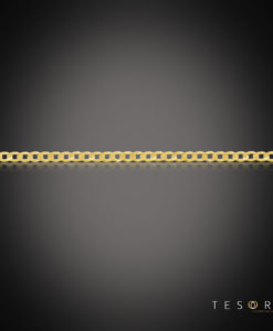 Tesoro Margutta Yellow Gold Curb Link Chain, 3.3mm