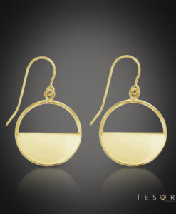 Tesoro Varenna Yellow Gold Dangle Earrings 16mm