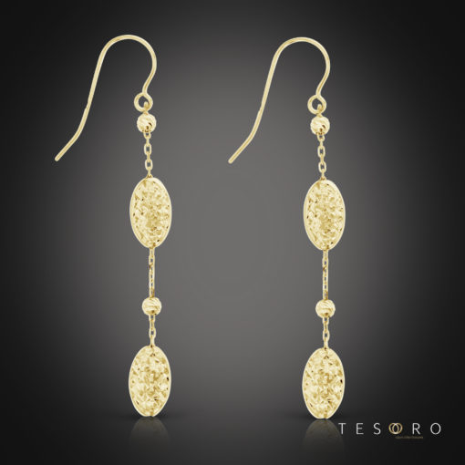 Tesoro Gandolfo Yellow Gold Dangle Earrings