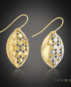 Tesoro Savoca Yellow & White Gold Dangle Earrings
