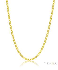 Tesoro Torri Super Flat Curb Link Chain, 2mm 50cm