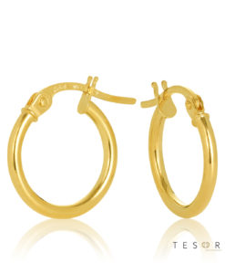 10OBC527-99 Eboli 1.5mm Round Tube Hoop Earring 10mm Diameter