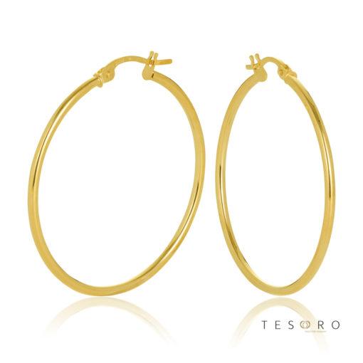 30OBC527-99 Eboli 1.5mm Round Tube Hoop Earring 30mm
