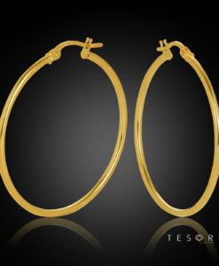 30OBC527-99 Eboli 1.5mm Round Tube Hoop Earring 30mm