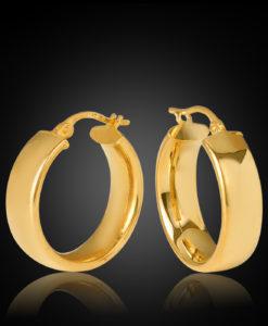 Parini 15OBC456-99 5.8m Width, 15mm Diameter Hoop Earring