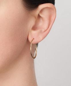30OBC441-99 Sotto 9Y 2mm Twist Tube, 30mm Diameter Hoop Earring