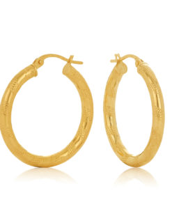 20OBC250-99 Udine Gold Hoop Earring 20mm