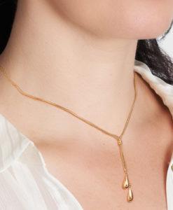 HHH037/4 Rovigo 9Y Lariat Style Necklace