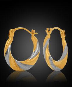 Borsari 9YW Progressive 10mm Hoop Earring